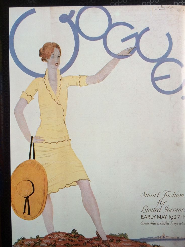 1920s Vintage Vogue Magazine Cover Print May 1927 by Lepape size 8 1/2 x 11 3/4 inches by ClaritaVintage on Etsy