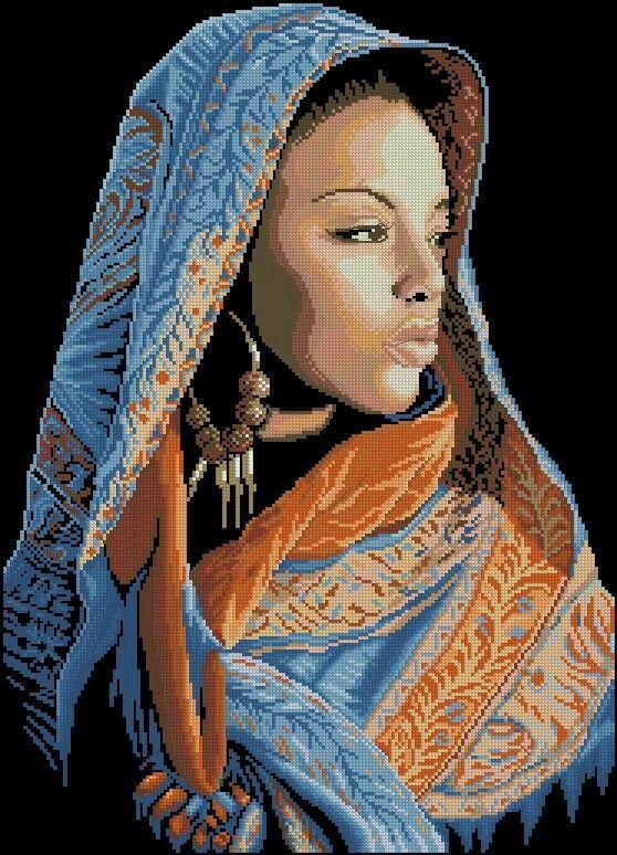 African Lady x-stitch #0