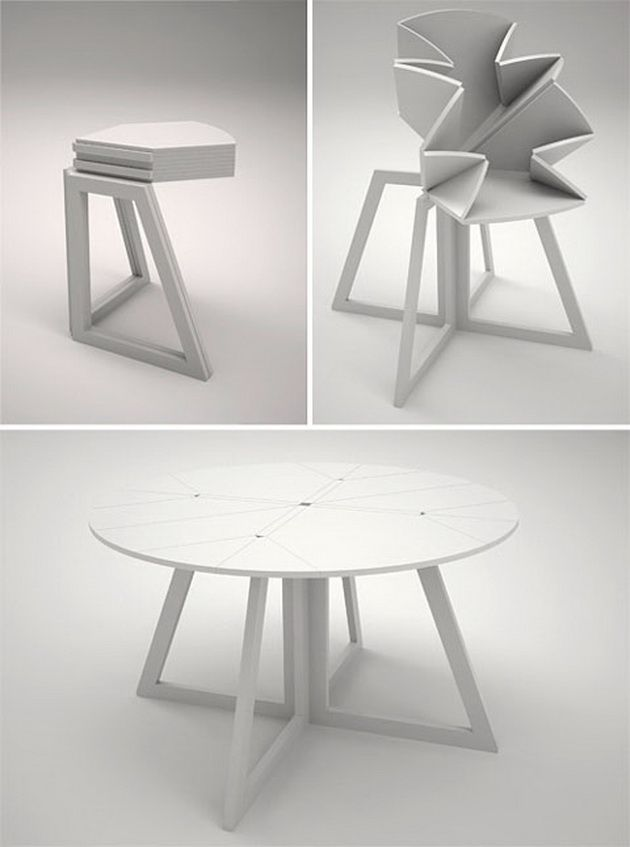 Grand Central: a table that folds inspired by a map