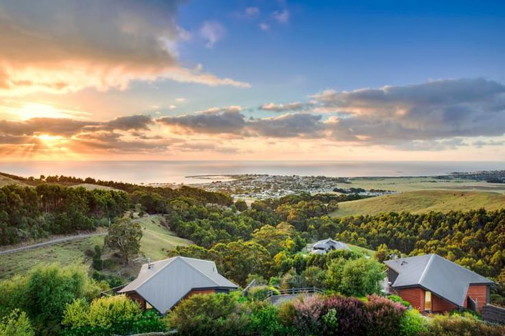 Sunrise over Apollo Bay on the Great Ocean Road taken from Point of View Villas Apollo Bay
