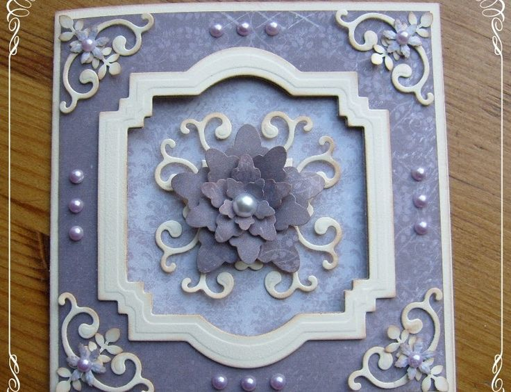 Weer een kaartje met Pion papier... Hiervoor heb ik gebruikt; Spellbinders labels 22 , daarmee heb ik een venster uitgestanst uit de voorka...