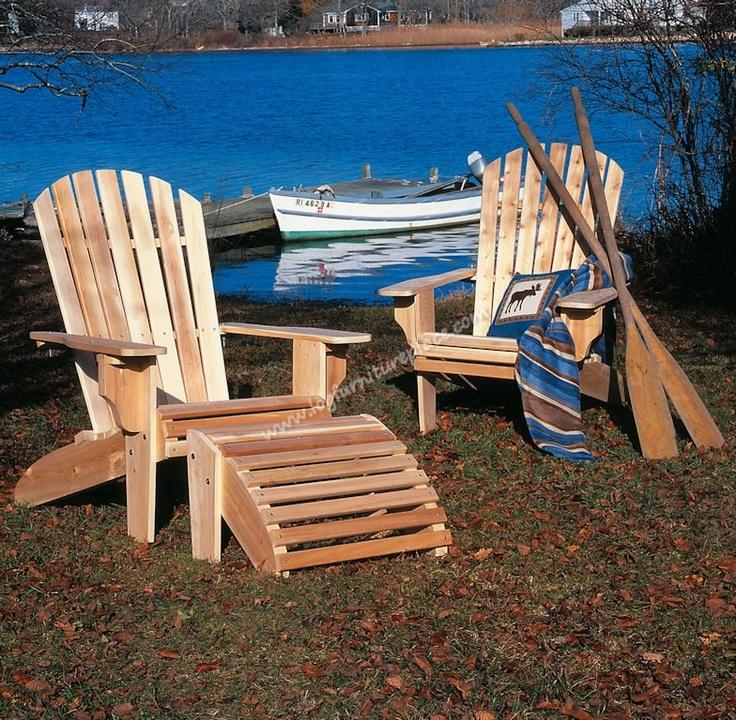 ADIRONDACK CHAIR   Cabin   Cedar furniture, Rustic chair, Adirondack chairs