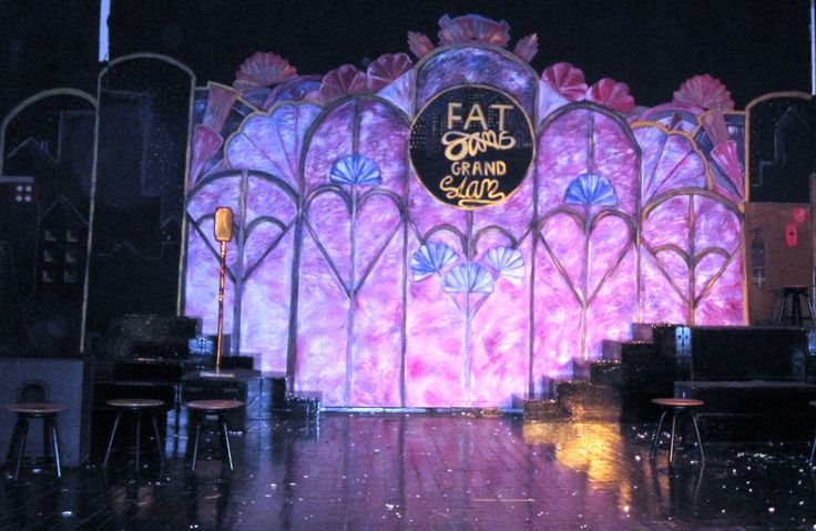 Bugsy Malone Fat Sam's Grand slam Stage backdrop 2012