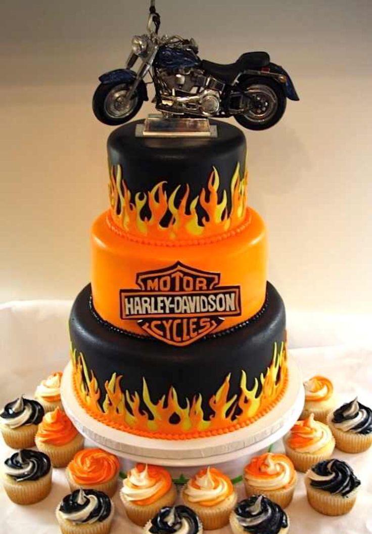 Harley Davidson cake.