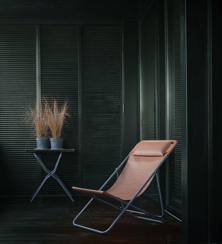 Chaise longue maxi transat plus cuivre collection privilège lafuma mobilier jean pierre lemoine
