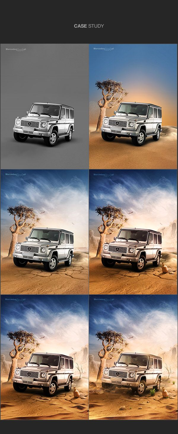 best images about composite photo manipulation mercedes4x4 on behance