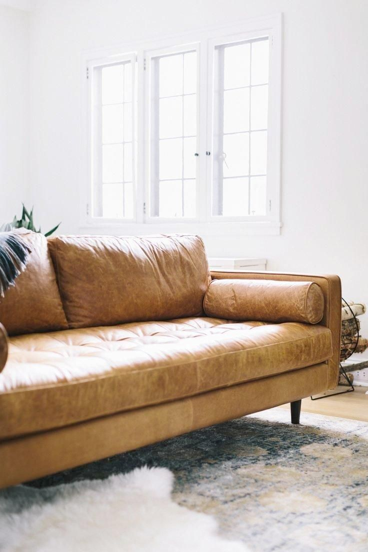 Outstanding Modern Brown Leather Sofas Great Modern Brown