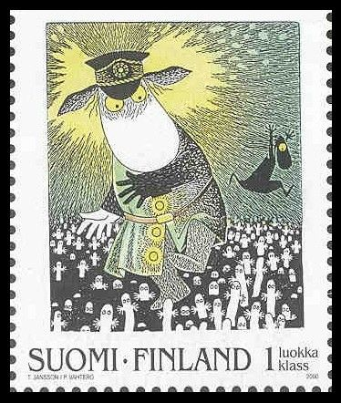 Moomin stamp. I remember these stamps <3