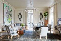 Los Angeles' interior designer Michael Smith chose a pale, romantic palette for this historic Gold Coast duplex penthouse by the owner's silver hair.