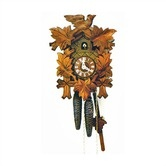 """Found it at Wayfair - 12"""" Traditional Cuckoo Clock with Leaves and Bird"""