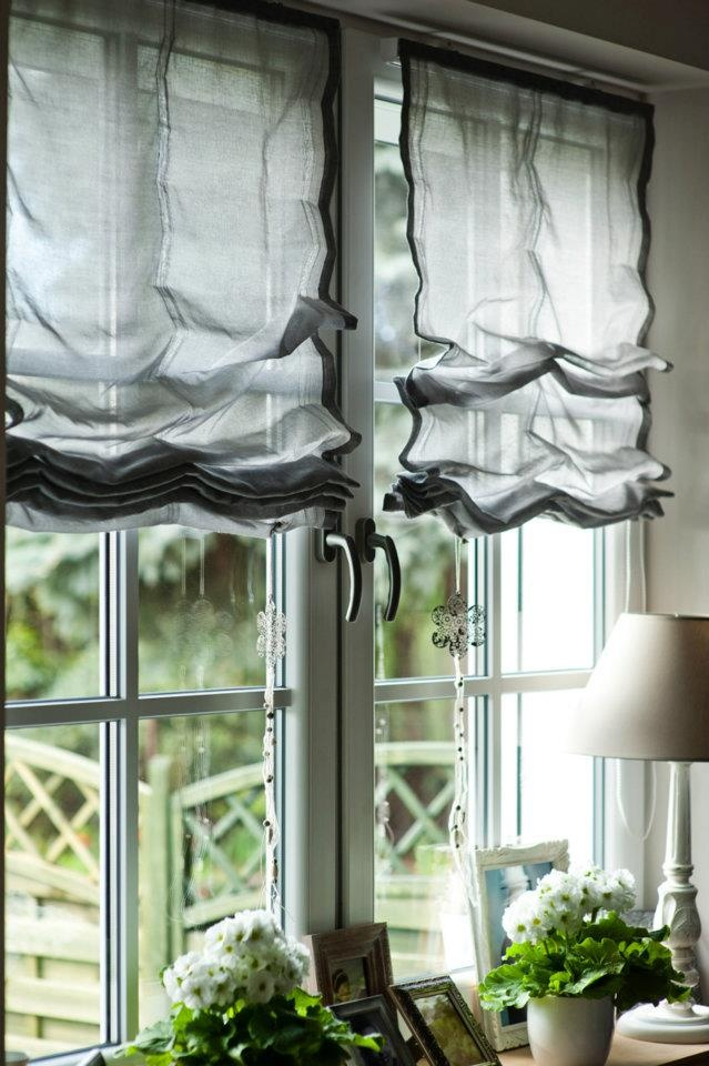 © stylus.pl | #homedecor #homeinspiration #interiors #fabric curtains #romanblind #window #fabian