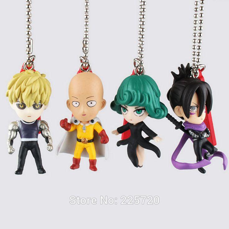 4 pcs/set Anime un coup de poing homme Figure Keychain Genos Tatsumaki Saitama sangle PVC Toy Collection modèle pendentif dans Action & Figurines de Jouets & Loisirs sur AliExpress.com | Alibaba Group