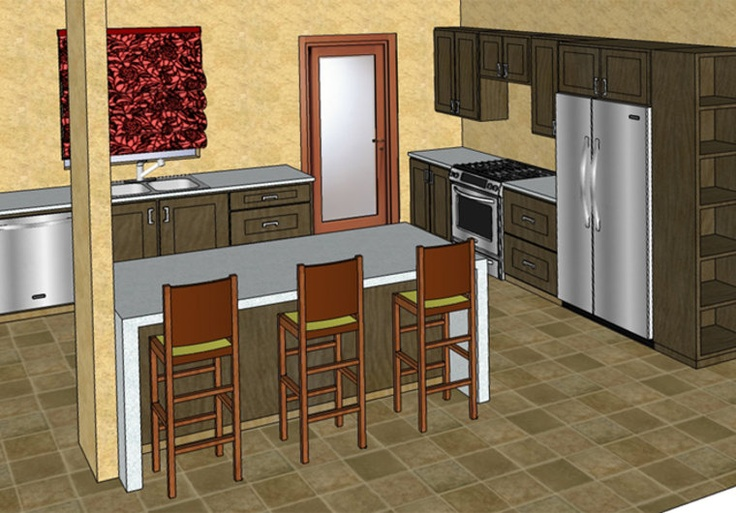 Bingo design a kitchen or bathroom in google sketchup on for Kitchen design using sketchup