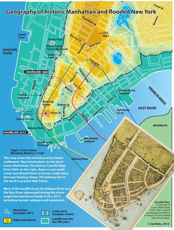 Hurricane Sandy Flooding in Lower Manhattan