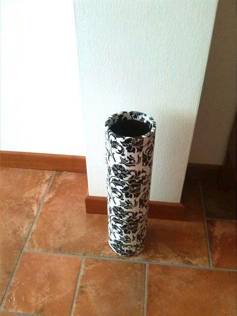 Reciclando tubo de carton: