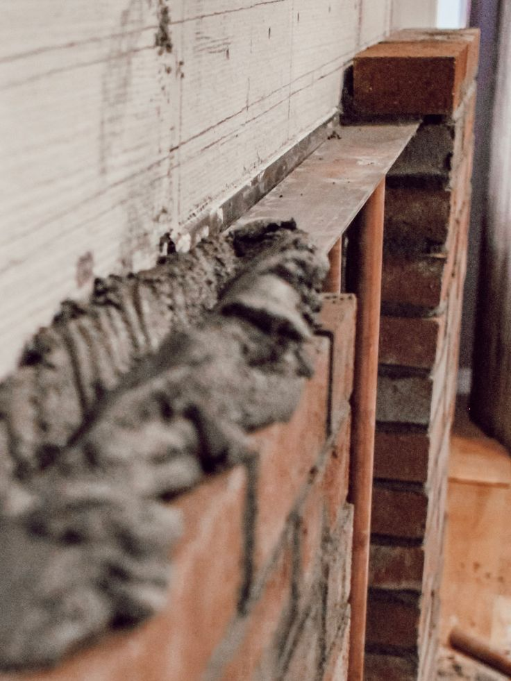 How To Build A Diy Brick Fireplace Hearth With A Shiplap