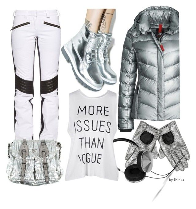 Metallic by ibinka on Polyvore featuring polyvore, fashion, style, Bogner Fire + Ice, Christian Lacroix, Lugz, Prada, Frends and clothing