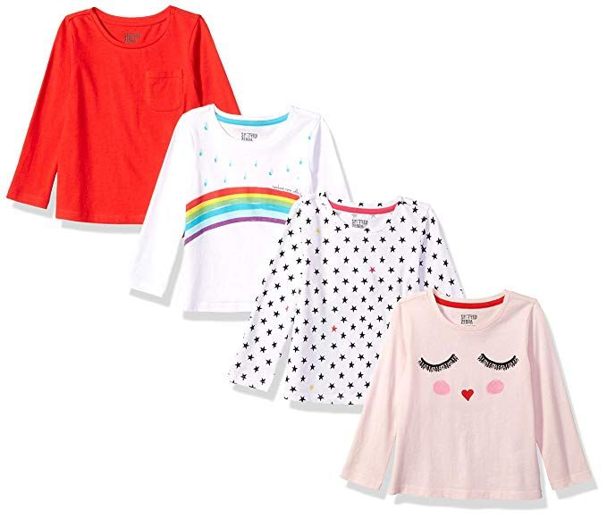 BABY GIRLS LONG SLEEVE SPOTTED TOP CASUAL TOP LONG SLEEVE T-SHIRT