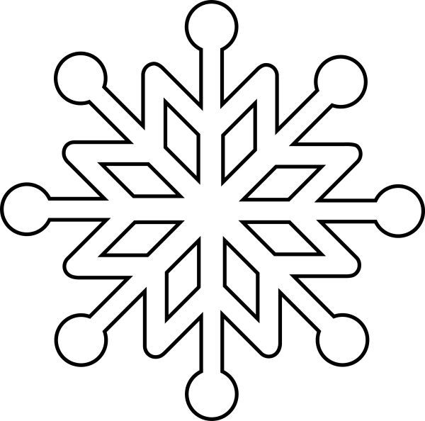 Copo De Nieve Copo Nieve Snowflake Coloring Pages Snowflake Template Christmas Stencils