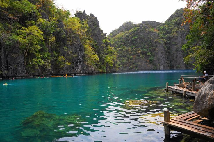 Swimming can't get any better than in a freshwater lake in Coron, Phillipines.
