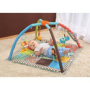 Baby Activity Mat DIY. You can make your own using all organic materials