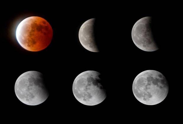 Gerhana Bulan Merah Darah. Blod Moon. Total Lunar Eclipse.