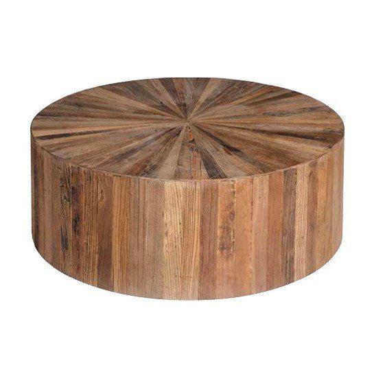 Elm Round Wood Coffee Table