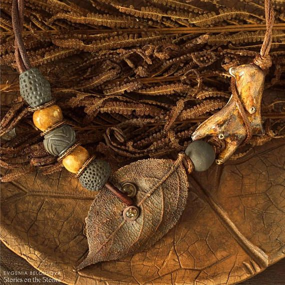 Horn necklace Gift tribal necklace Pagan wiccan necklace