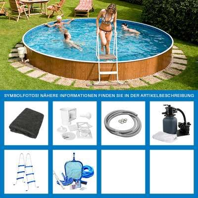 Poolfolie rund affordable pool set rund x m mit for Poolfolie innen rund