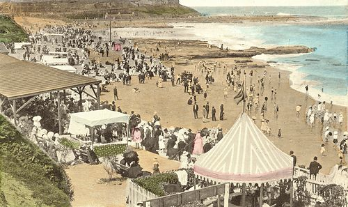 Newcastle Beach e Beach, Newcastle, NSW, Australia [c.1900] Newcastle Beach in its heyday ...not quite like to day