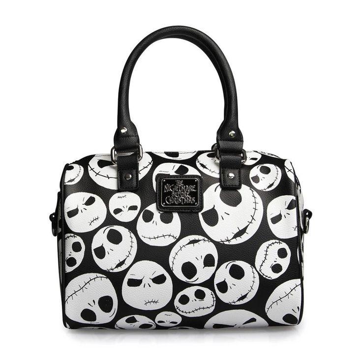 Loungefly Jack Faces Black/White Mini City Handbag Jack Skellington Nightmare Before Christmas Disney handbag purse