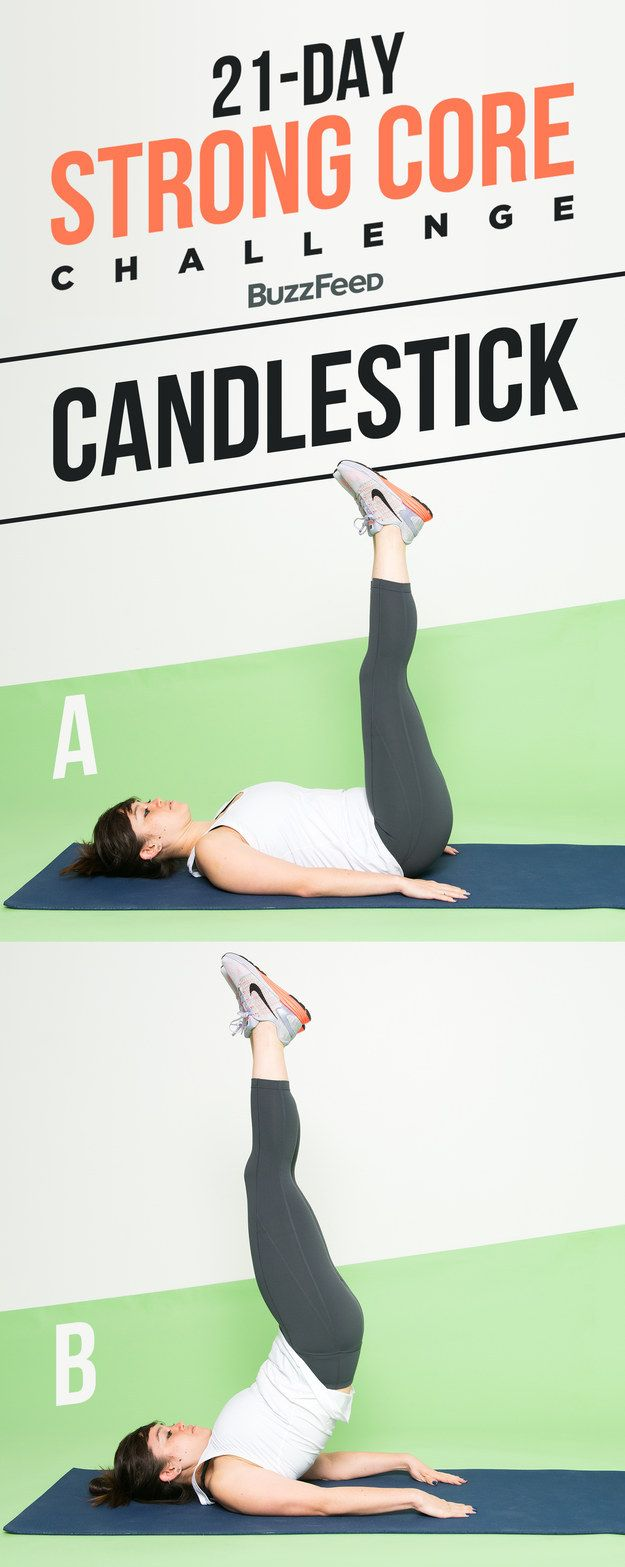 Here's how to do a candlestick: | Do These 3 Abs Exercises For A Stronger Core