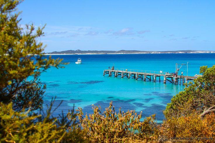 Wow - the colour of that ocean! VIVONNE BAY, KANGAROO ISLAND, SA