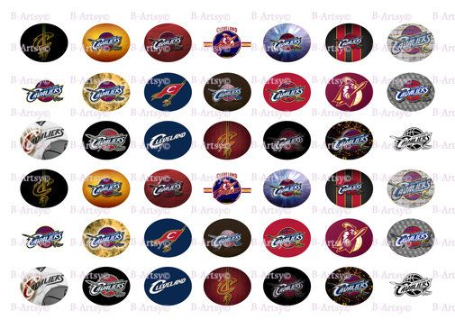Cavaliers Team Oval Paracord Shoelace Charms by BeArtsyBoutique