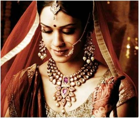 Beautiful Bride in Stunning Indian Wedding Jewellery Images, Pictures, Photos, Wallpapers