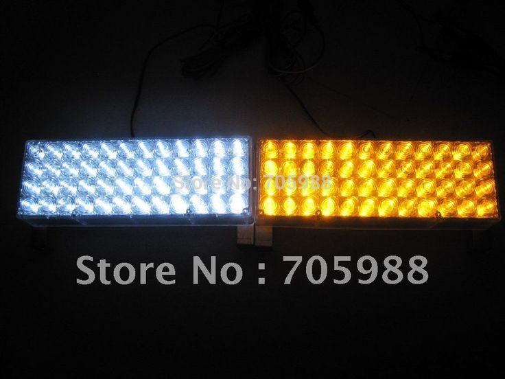 White And Amber 96LED Snow Plow Car Boat Truck Warning Emergency Strobe Lights Indicator Grill Fog Lamps Warning lights