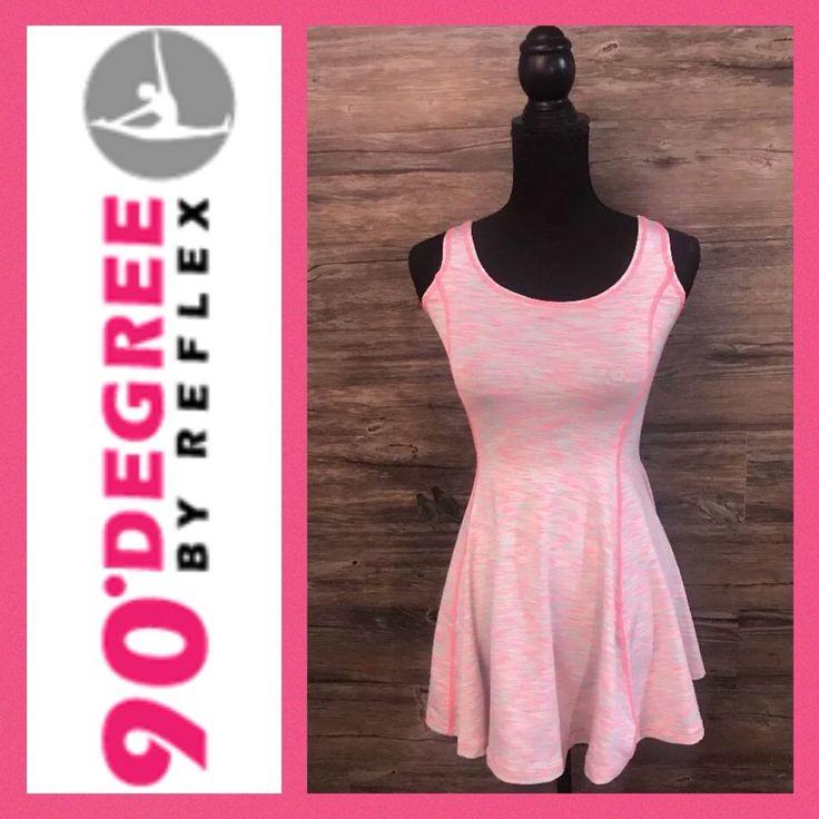 Girls 90 DEGREE BY REFLEX Pink/Blue Space Dye Sleeveless Workout Dress Med (10)  | eBay