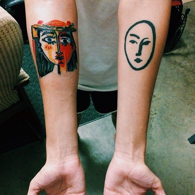 Picasso and Matisse #vscocam #tattoos                                                                                                                                                                                 More