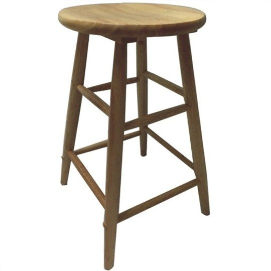 Fred Solid Timber Scoop Seat Bar Stool - Naturla