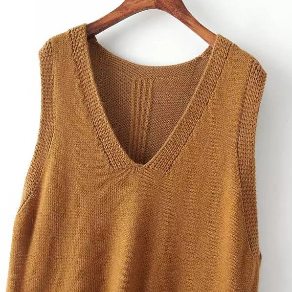 Wholesale Ladies wear Korean V-neck sleeve pullover vests CY-P827L7 - Lovely Fashion