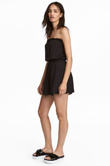 Strapless playsuit - Black - Ladies | H&M GB