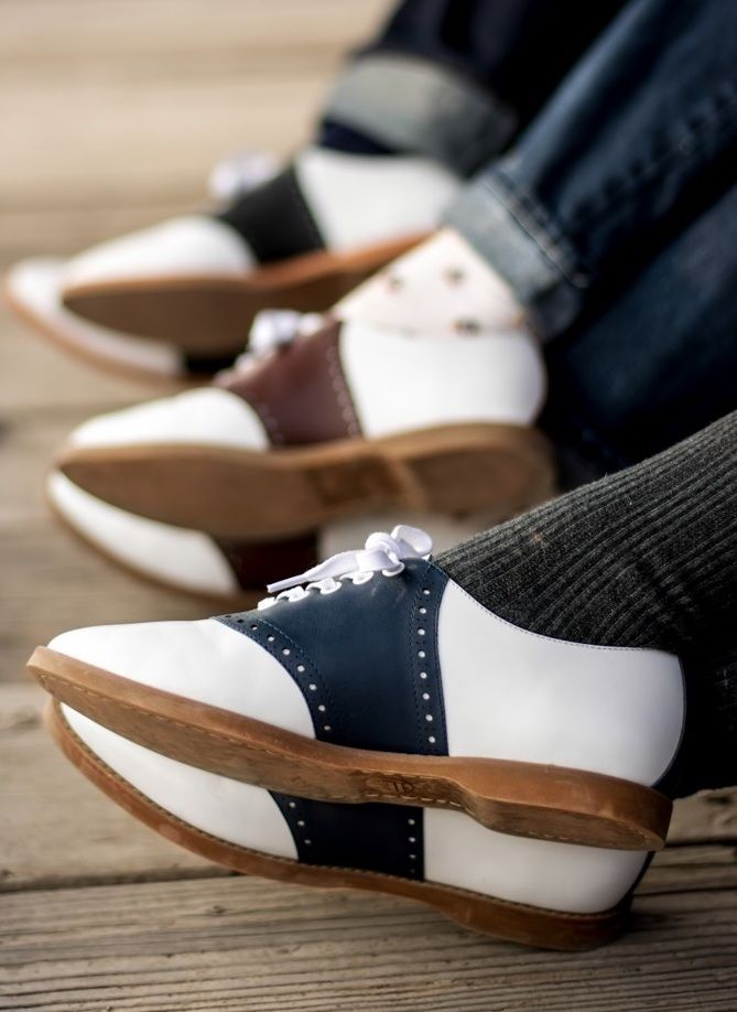 91b49d0cf370ea Susie Classic Saddle Shoes in Blue White by Royal Vintage Shoes in ...