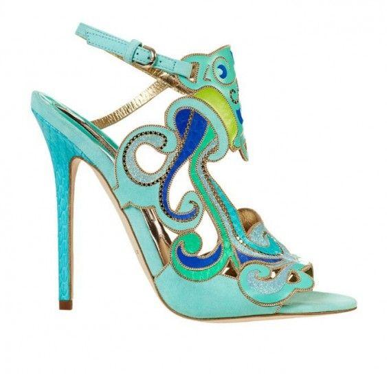 Sandali colorati Brian Atwood_Collezione Primavera/Estate 2014.