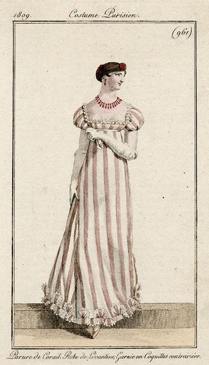 1809 Costume Parisien, stripes