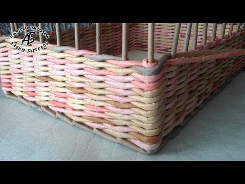 Плетем прямые углы в коробе. - YouTube