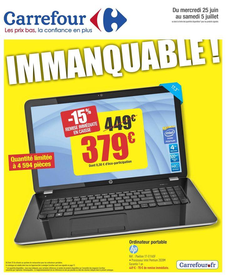 Carrefour Immanquable 25 Juin – 05 Juillet 2014