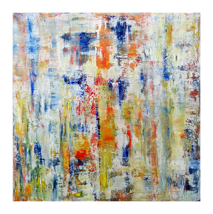 "Radek Šmach: ""Composition RZ496"" Acrylic on canvas / Akryl na plátně 50  x 50 cm"