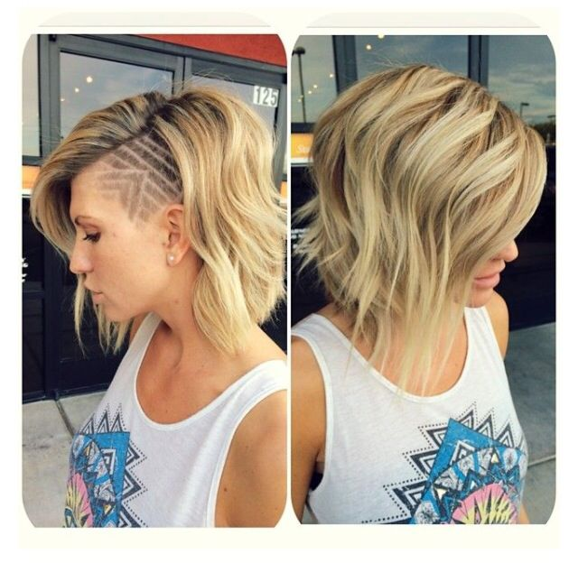Love this. The shaved is not for me. But looks so great on her and the color and style