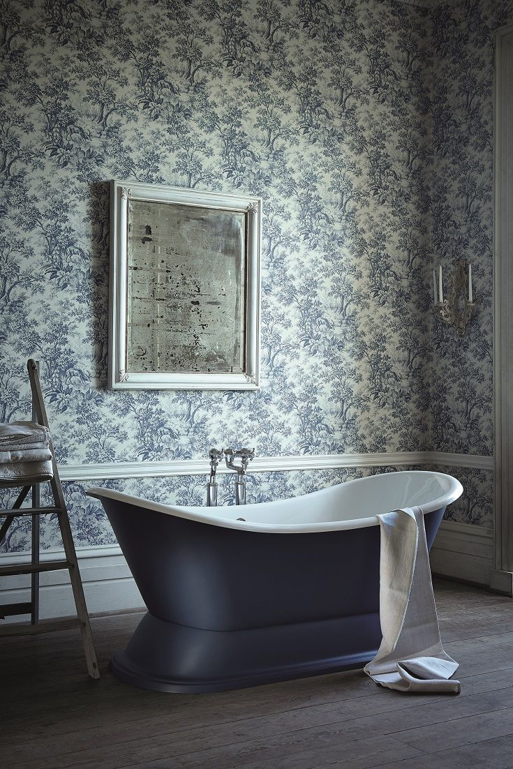 33 best bathroom wallpaper ideas images on pinterest wallpaper how about a beautiful toile this is stag toile by little greene