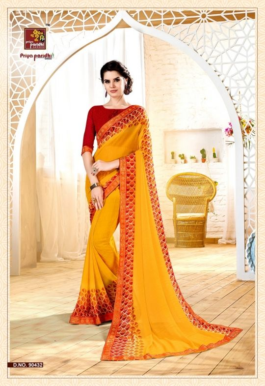 02b7b4e058 Priyaparidhi-Vritika-Vol-2-Georgette-Printed-Fancy-Saree-Trader-Surat -Dealer-2